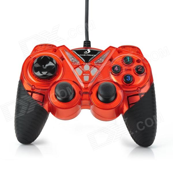 GAME PRINCE JH-705 USB 2.0 Double Shock GamePad Controller - Red + Black briar mitchell lee game design essentials