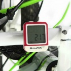 SAHOO 81487 Wired Waterproof Bicycle Computer - White + Red (1 x CR2032)