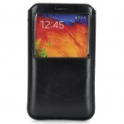 Protective PU Case w/ Window for Samsung Galaxy Note 3 / N9000 - Black