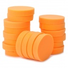 Round Shaped Car Cleaning Waxing Sponge - Orange (18PCS)