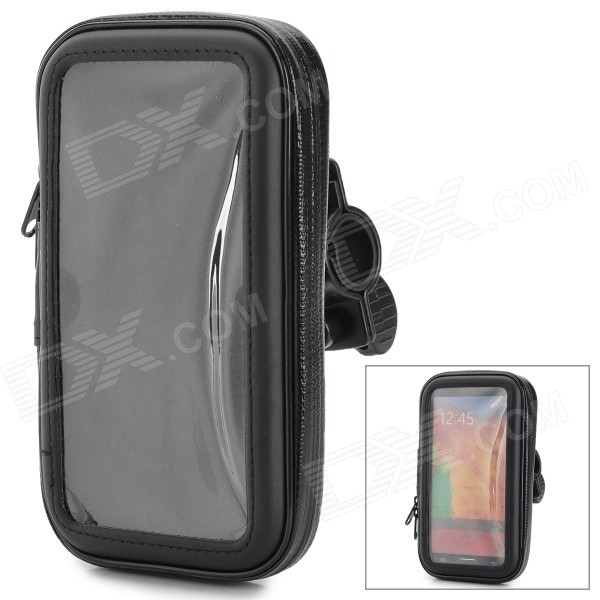 Waterproof Protective PVC + Plastic Bag Case w/ Bike Mount for Samsung N9000 - Black