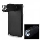 ABS + Aluminum Alloy 60~100X Telescope w/ Back Case for Samsung Note 3 - Black