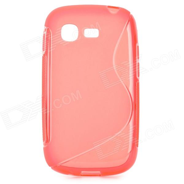 S Style Anti-Slip Protective TPU Back Case for Samsung Galaxy Pocket Neo S5310 - Red skinbox shield 4people чехол для zte blade l2 black
