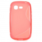 """S"" Style Anti-Slip Protective TPU Back Case for Samsung Galaxy Pocket Neo S5310 - Red"