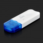 USB Bluetooth V2.1 Audio Receiver for Car - White + Blue