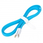 Bolongking USB Male to Micro USB Male Charging Flat Cable for Samsung / HTC + More - Blue + White