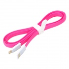 Bolongking USB 2.0 Male to Micro USB Male Charging Flat Cable for Samsung / HTC + More - Pink