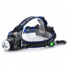 Sipids  S4 Cree XM-L T6 690lm 3-Mode White Zooming Focus Headlight - Black +Blue(2 x 18650)
