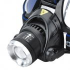 Sipids S4 LED 690lm 3-Mode White Zooming Focus Headlight - Black +Blue(2 x 18650)