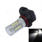 HJ-003 9006 80W 920lm 16-CREE XBD R3 White Light Car Foglight / Headlamp (12~24V)