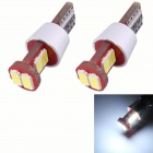 T10 3W 270lm 6 x SMD 5630 LED Error Free Canbus White Light Car Clearance Lamp (DC 12V / 2 PCS)