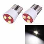 T10 1.5W 165lm 3 x SMD 2323 LED Error Free Canbus White Light Car Clearance Lamp (DC 12V / 2 PCS)