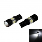 T10 / W5W 4W 300lm 4-5050 + 1-COB LED White Light Car Headlamp / Clearance / Side Lamp - (12V/ 2Pcs)
