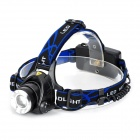 Convenient T6 800LM 3-mode White Light CREE XM-L Headlamp - Black + Silver