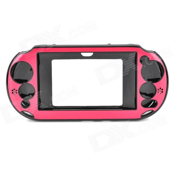 Protective Plastic + Aluminum Case for PS Vita 2000 - Red + Black