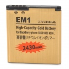"EM1-GD 3.7V ""2430mAh"" Li-ion Battery for BlackBerry 9350 / 9360 / 9370 - Golden"
