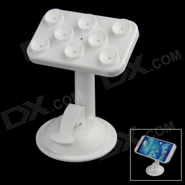 360 Degree Rotation Car Suction Cup Stand Holder Mount Bracket for GPS / Cell Phone - White