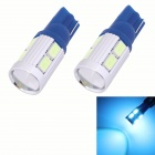 T10 5W 450lm 10xSMD 5630 LED Ice Blue Light Car Clearance Lamp / Signal Light Lens (DC 12V/2 PCS)