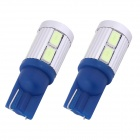 T10 5W 450lm 10xSMD 5630 LED Ice Blue Light Car Clearance Lamp / lente do sinal (DC 12V / 2 PCS)