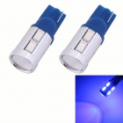 T10 5W 450lm 10xSMD 5630 LED Blue Light Car Clearance Lamp / Signal Light Lens (DC 12V / 2 PCS)