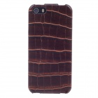 SAYOO Crocodile Striation Vertical Open PU Leather Mobile Phone Protective Back Case for IPHONE 5