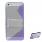 Fashion Plastic Protective Case for IPHONE 5 / 5S - Purple + Transparent