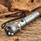 LED 450lm 5-Mode White Zooming Crown Head Tactical Flashlight - Silver (1 x 18650)