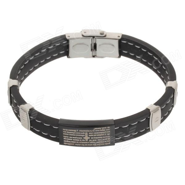 Decompression Anion Silica Gel Non-Allergy Bracelet - Silver + Black common mental disorders in long term sickness absence
