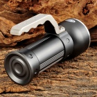 UltraFire 3408 LED 500lm 3-Mode White / Red Flashlight / Camping Light - Grey (2 x 18650)
