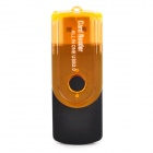Tragbare 4-in-1 Kartenleser w / TF / Micro SD / M2 / MS / SD - Schwarz + Orange (. 32 GB Max)