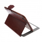 Fashion Color Flip-Open PU Leather Stand Case w/ Windows for IPAD MINI 2 - Red Brown