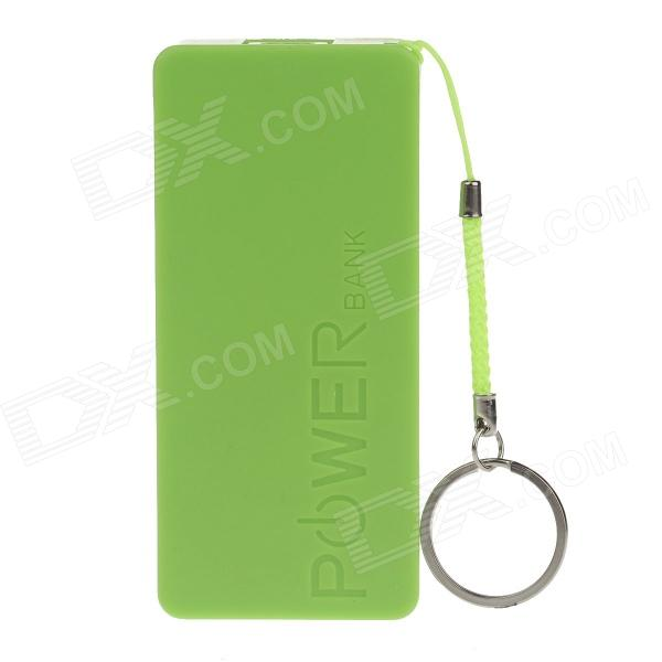 3700mAh Portable Mobile Power Bank With Hanging Ring - Green portable 1500mah mobile power bank w hanging ring charging cable white