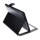 Fashion Color Flip-Open PU Leather Stand Case w/ Windows for IPAD Air / IPAD 5 - Black