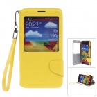 ipai HS3228 Fashion Visual Flip Protective Case w/ Strap for Samsung GALAXY NOTE 3 - Yellow