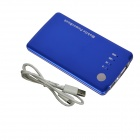 Mikasso 3500mAh Mobile Power Banque Universelle Source pour iPhone / Samsung + Plus - Bleu