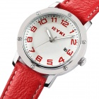 EYKI 8561 Ladie's Retro Fashion Quartz Watches - Red + Silver (1 x 10#)