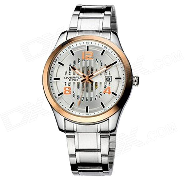 Men's High-end Creative Hollow Quartz Watch - Gold + Silver (1 x 10#)