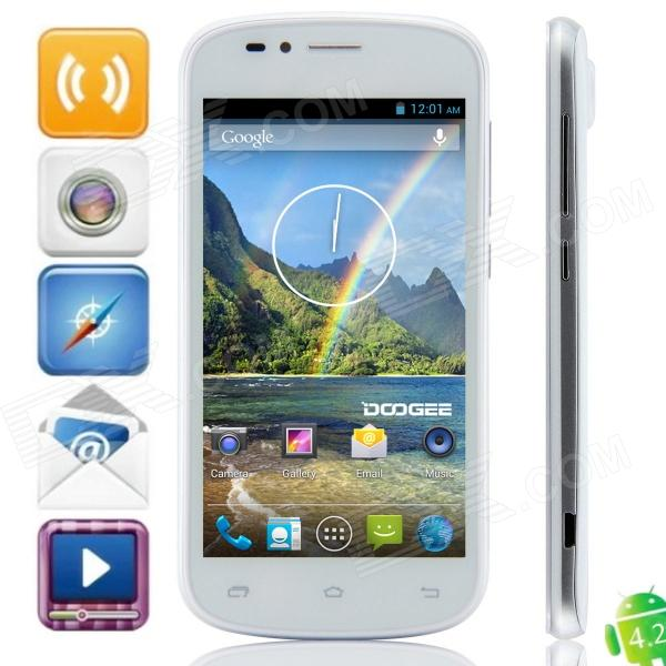 DOOGEE RAINBOW DG210 MTK6572 Dual-Core Android 4.2.2 WCDMA Bar Phone w/ 4.5 IPS, Wi-Fi, GPS - White just play just play мягкая игрушка собачка кэнди и ее щенки