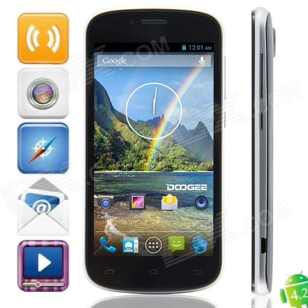 DOOGEE RAINBOW DG210 MTK6572 Dual-core Android 4.2.2 WCDMA Bar Phone w/ 4.5 IPS, Wi-Fi, GPS - Black