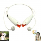 LG HBS-700 Bluetooth V2.1 Wireless Stereo Headset Headphone w/ Microphone - White + Orange