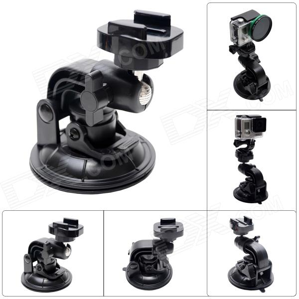 90mm Powerful Suction Cup Mount w/ Fast Release Plate for Gopro Hero 4/ 3+/3/2/1/SJ4000 - Black