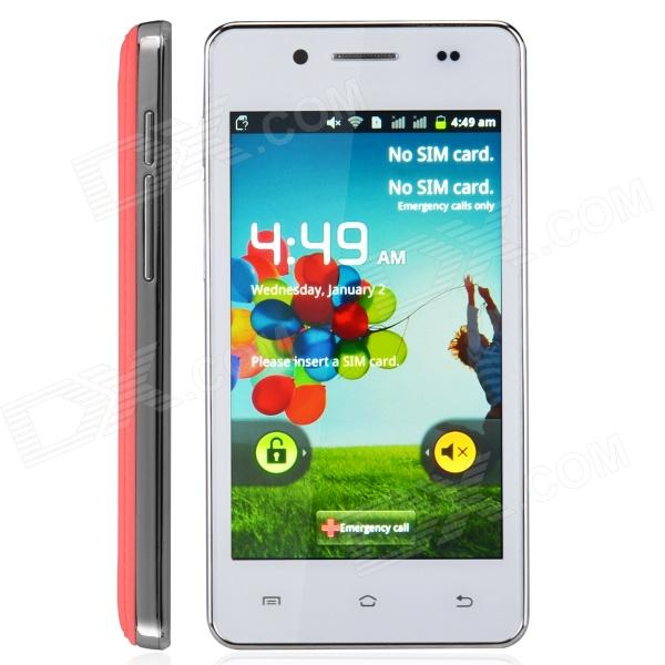 "H9000 Android 2.3 WCDMA Bar Phone w/ 4.0"" / Bluetooth / Wi-Fi - Red + White"