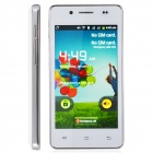 "H9000 Dual Core Android 2.3 WCDMA Bar Phone w/ 4.0"" / Bluetooth / Wi-Fi - White + Silver"