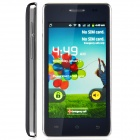 "H9000 Dual Core Android 2.3 WCDMA Bar Phone w/ 4.0"" / Bluetooth / Wi-Fi - Deep Blue + Silver"
