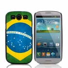 2014 World Cup Brazilian Flag Pattern Aluminum Alloy Case w/ Card Slot for Samsung Galaxy S3 - Blue