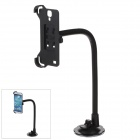 H39 360 Degree Rotation Holder Mount Bracket w/ Suction Cup for Samsung Galaxy S4 i9500 - Black