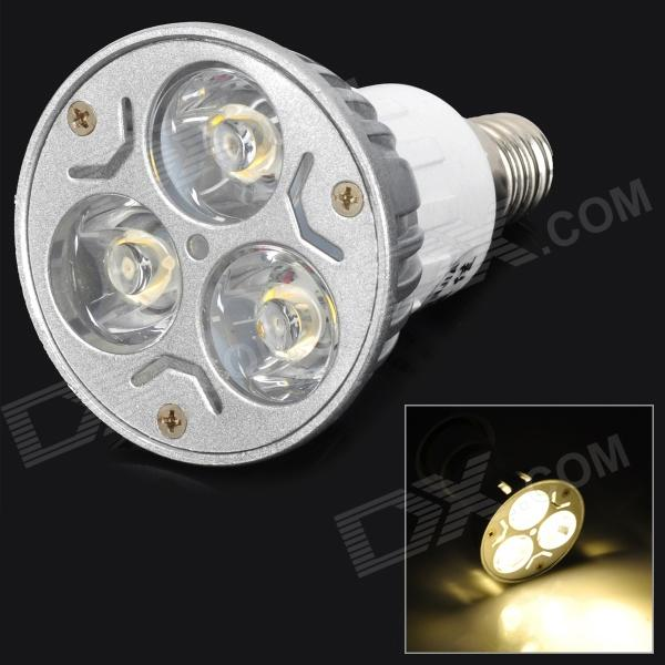 ZHISHUNJIA DB-14YE302 E14 3W 210lm 3200K 3 x SMD 6063 LED Warm White Light Lamp - (AC 85~265V)E14<br>Form  ColorSilver + WhiteColor BINWarm WhiteBrandZHISHUNJIAModelDB-14YE302MaterialPlastic + aluminumQuantity1 DX.PCM.Model.AttributeModel.UnitPower3WRated VoltageAC 85-265 DX.PCM.Model.AttributeModel.UnitConnector TypeE14Emitter TypeOthers,SMD 6063 LEDTotal Emitters3Theoretical Lumens240 DX.PCM.Model.AttributeModel.UnitActual Lumens210 DX.PCM.Model.AttributeModel.UnitColor Temperature12000K,Others,2800~3200KDimmableNoBeam Angle45 DX.PCM.Model.AttributeModel.UnitPacking List1 x LED light<br>