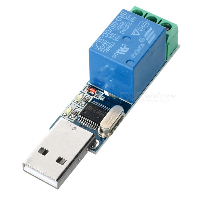Usb relay module smart control switch deep blue