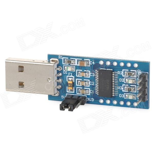 FT232 FT232RL USB to TTL Module w/ Indicator - Deep Blue usb to rs485 module black
