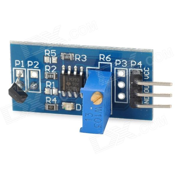 012602  Motor Speed Sensor Module w/ Switch - Deep Blue tlv3501 high speed comparator frequency meter front end shaping module 4 5ns ultra high speed comparator